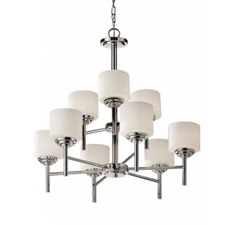 Malibu 9-light Polished Nickle Chandelier