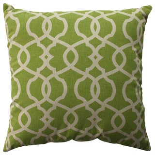 Pillow Perfect Lattice Damask Leaf 23-inch Decorative Pillow
