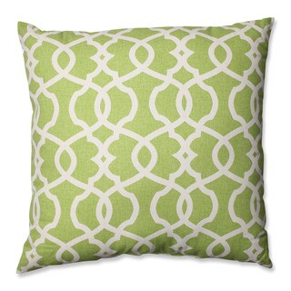Pillow Perfect Lattice Damask Leaf 24.5-inch Decorative Pillow