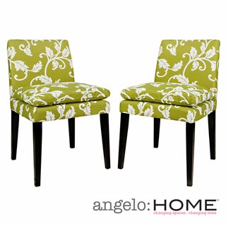 angelo:HOME Marnie Spring Leaf Upholstered Dining Chairs (Set of 2)