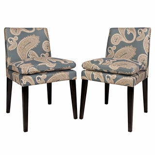 angelo:HOME Marnie Feathered Paisley French Blue Upholstered Dining Chairs (Set of 2)