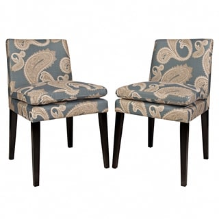 Portfolio Orion Blue Paisley Upholstered Dining Chairs (Set of 2)