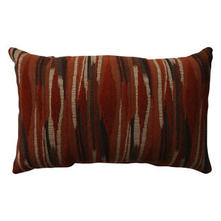 Pillow Perfect Kasuri Tangerine Rectangular Throw Pillow