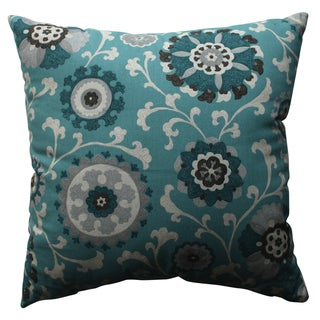 Pillow Perfect Suzani Teal 18-inch Throw Pillow