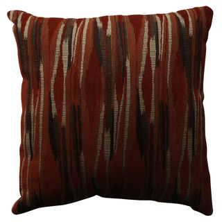 Pillow Perfect Kasuri Tangerine 18-inch Throw Pillow