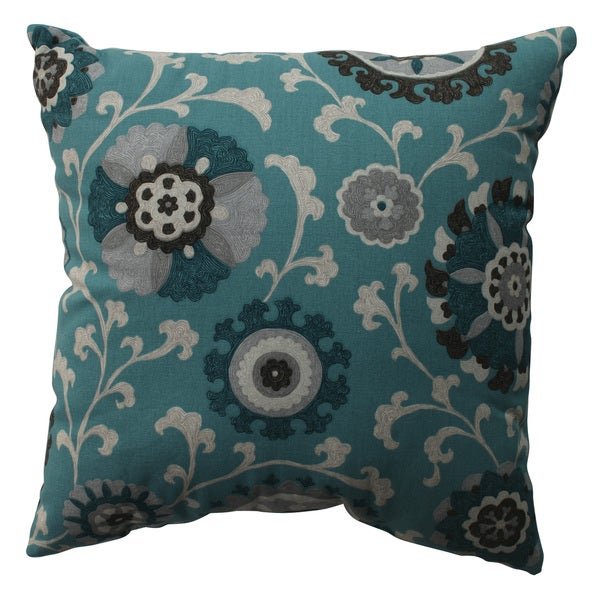 Pillow Perfect Suzani Teal 16.5-inch Throw Pillow