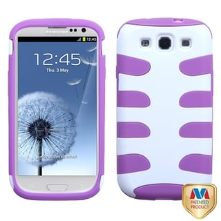 BasAcc Ivory/ Purple Fishbone Case for Samsung Galaxy S3/ III i9300
