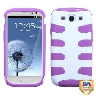 BasAcc Ivory/ Purple Fishbone Case for Samsung Galaxy S3/ III i9300