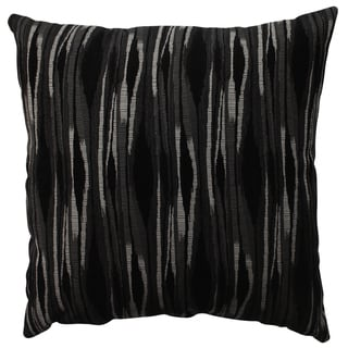 Pillow Perfect Kasuri Charcoal 23-inch Decorative Pillow