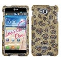 BasAcc Leopard Skin/ Camel Diamante Case for LG Spirit 4G MS870