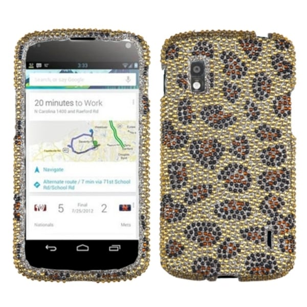 BasAcc Leopard Skin/ Camel Diamante Case for LG E960 Nexus 4
