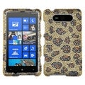 BasAcc Leopard Skin/ Camel Diamante Case for Nokia 820 Lumia 820