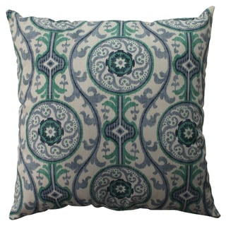 Pillow Perfect Suzani Damask Green 23-inch Floor Pillow