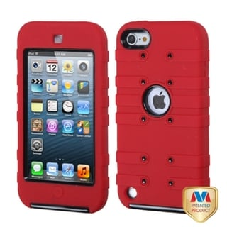 BasAcc Black/ Red TUFF eNUFF Hybrid Case for Apple iPod Touch 5