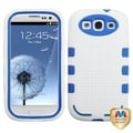 BasAcc Blue/ White TUFF eNUFF Hybrid Case for Samsung Galaxy S3/ S III