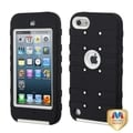 BasAcc Ivory/ Black TUFF eNUFF Hybrid Case for Apple iPod touch 5