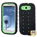 BasAcc Green/ Black TUFF eNUFF Hybrid Case for Samsung Galaxy S3/ III