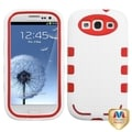 BasAcc Red/ White TUFF eNUFF Hybrid Case for Samsung Galaxy S III/ S3