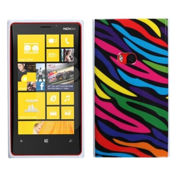 INSTEN Neon Zebra Candy Skin Phone Case Cover for Nokia 920 Lumia