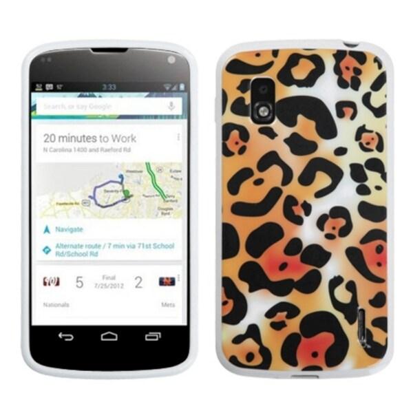 BasAcc Orange Cheetah Candy Skin Case for LG E960 Nexus 4
