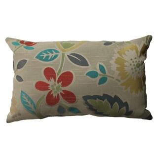 Pillow Perfect Floral Fiesta Rectangular Throw Pillow