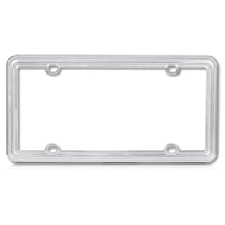 BasAcc Light Silver Plastic License Plate Frame