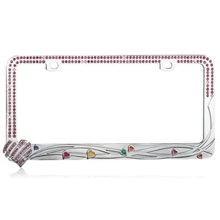 BasAcc Slashed Heart/ Mini Heart License Plate Frame