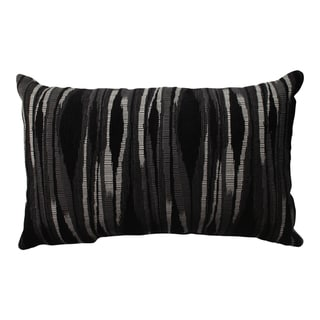 Pillow Perfect Kasuri Charcoal Rectangular Throw Pillow