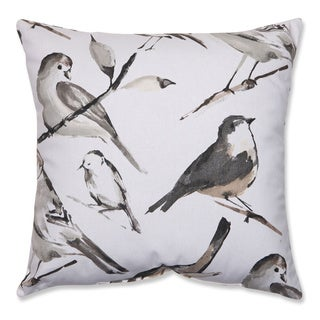 Pillow Perfect Bird Watcher Charcoal 18-inch Throw Pillow