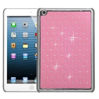 BasAcc Pink/ Silver Lattice Diamond Case for Apple iPad Mini