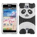 BasAcc Playful Panda Diamante Case for LG Spirit 4G MS870