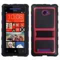 BasAcc Red Gummy Armor Stand Case for HTC Windows Phone 8X