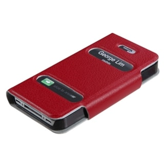 BasAcc Red MyJacket Wallet Case for Apple iPhone 4S/4