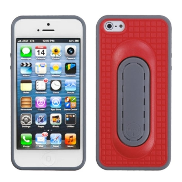INSTEN Red Snap Tail Stand Phone Case Cover for Apple iPhone 5