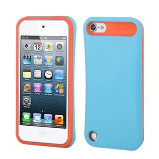 INSTEN Baby Blue/ Orange Card Wallet iPod Case Cover for Apple iPod touch 5