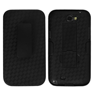 BasAcc Black Hybrid Holster for Samsung Galaxy Note 2 II