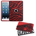 BasAcc Black Zebra/ Red Fusion Case for Apple iPad Mini