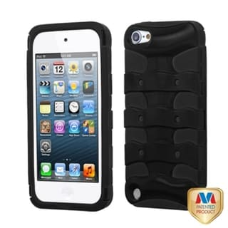 Insten Black Ribcage Circuitboard Hard PC/ Silicone Hybrid Rubberized Matte Case Cover For Apple iPod Touch 5th/ 6th Gen