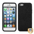 BasAcc Black/ Black Dog Paw Hybrid Case for Apple iPhone 5