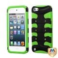 BasAcc Black/ Green 3D Fishbone Hybrid Cover For iPod touch 5th Gen
