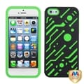 BasAcc Black/ Green Circuit board Hybrid Case for Apple iPhone 5