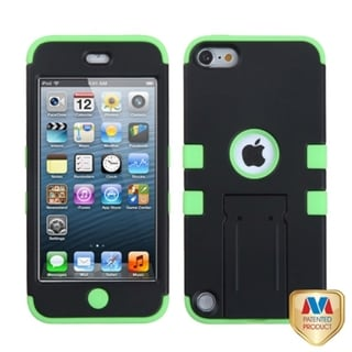 BasAcc Black/ Electric Green TUFF Hybrid Case for Apple iPod touch 5
