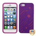 BasAcc Grape/ Hot Pink Circuit board Hybrid Case for Apple iPhone 5