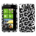 BasAcc Black Leopard 2D Silver Skin Case for HTC X310a TITAN