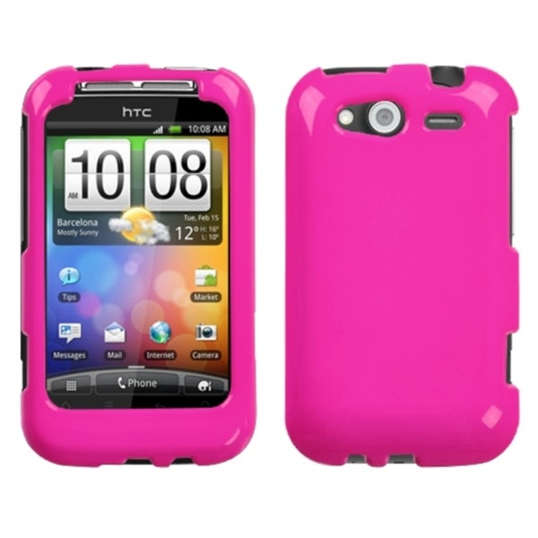 INSTEN Solid Pink Phone Case Cover for HTC Wildfire S GSM/ Wildfire S CDMA