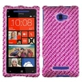 BasAcc Stripe Pink/ Hot Pink Diamante Case for HTC Windows Phone 8X