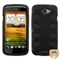 BasAcc Rubberized Black/ Black Fishbone Case for HTC One S
