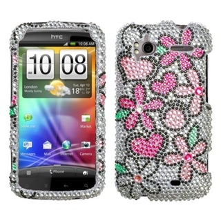 BasAcc Fantastic Flowers Diamante Case for HTC Sensation 4G