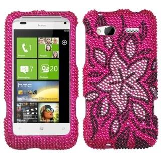 INSTEN Tasteful Flowers Diamante Phone Case Cover for HTC Radar 4G