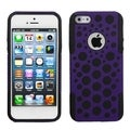 BasAcc Purple/ Black Dots Advanced Armor Case for Apple iPhone 5